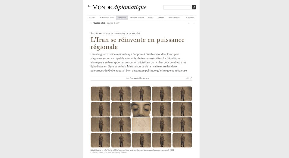 Babak Kazemi featured in Le Monde Diplomatique
